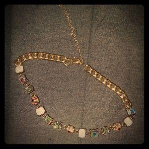 Jewelry - 💎Iridescent Multi Stone Chain Choker🔗